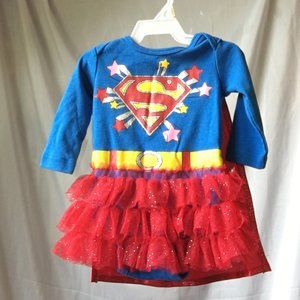 Supergirl costume, size 3-6 months